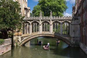 The Bridge of Sighs, one of the many beautiful bridges that cross the river Cam.