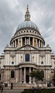 St Paul's Cathedral in 2014 - now very carefully cleaned after all the soot and dirt from the Blitz.
