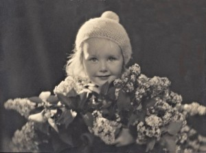 Gun and lilacs, about three years old