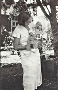 Mother and Gun as a baby, already pretty Mother and Gun as a baby, already pretty -- 1930. The picture was taken in Tingsryd, a small town in southernmost Småland, where Gun was born, 1930.