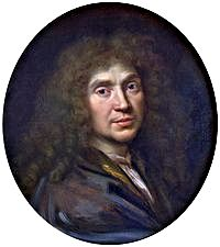 Jean-Baptiste Poquelin, aka Molière -- Portrait of Molière by Pierre Mignard