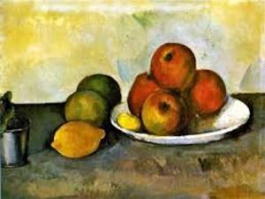 Cézanne -- Nature morte avec pommes