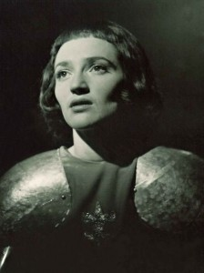Inge Waern as Saint Joan in the play by Bernard Shaw