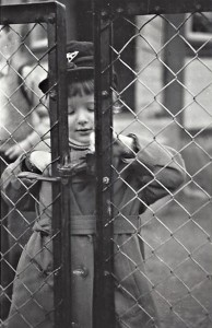 Siv, about 5, at Kvarnhem, says Gun. But I can't remember a gate like this anywhere I know. Mother was always ready with her camera, it seems.