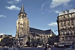 L'Eglise de Saint-German des Prés, dating from pre-medieval times -- on Bouleacrd Saint-Germain