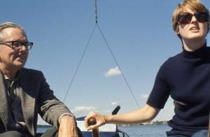 Arne let me have the tiller in Nyköping archipelago -- John is behind the camera