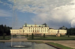 Drottningholm Palace, situated on an island in the inner part of Lake Mälaren