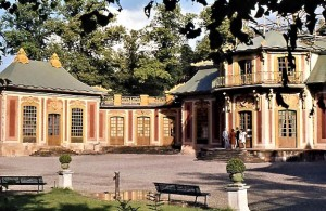 The Chinese Pavilion, Kina slott, which was a surprise present from king Adolf Fredrik to queen Lovisa Ulrika on her birthday in 1753.