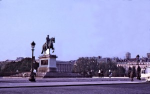 Le Vert Galant, Henri IV, on le Pont-Neuf. Henri de Navarre was said to have had many gallant adventures into his old age.