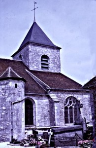 The beautiful little church at Colombay-les-deux-églises.