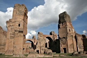 The Baths of Caracalla seen from the south (Wikipedia)