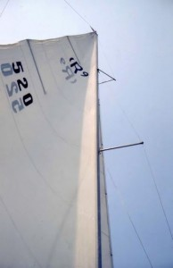 The mainsail of my Rhodes 19