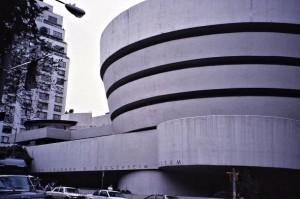 The wonderful Solomon Guggenheim Museum of modern art the way it looked in 1989.