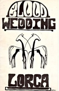 The program for Blood Wedding, as supplied to me by former student Mark Pierce, via Facebook.