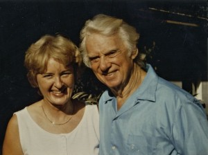 Ossian about 75 years old and his niece, Siv