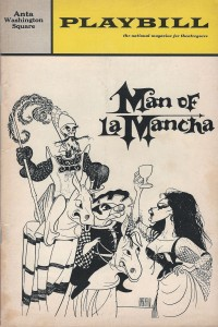 Playbill cover of Man of La Mancha